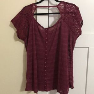 Maurices Tops - Cute burgundy shirt from Maurice's